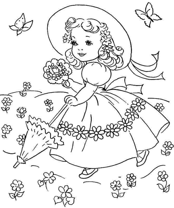 spring coloring pages detailed words - photo#15