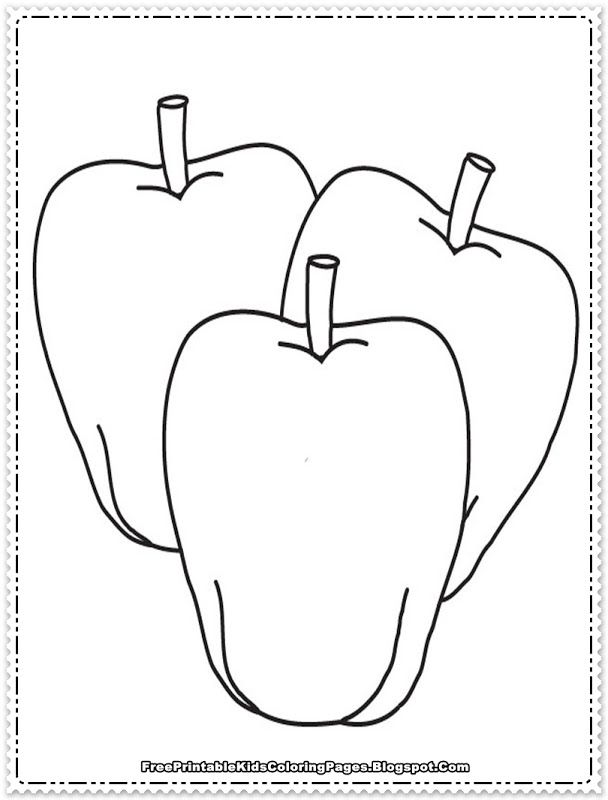 Preschool Coloring Pages Apple : Preschool apple coloring pages home