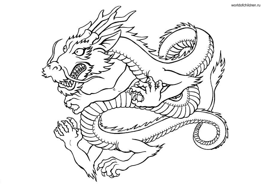 chinesse dragon coloring pages - photo#16