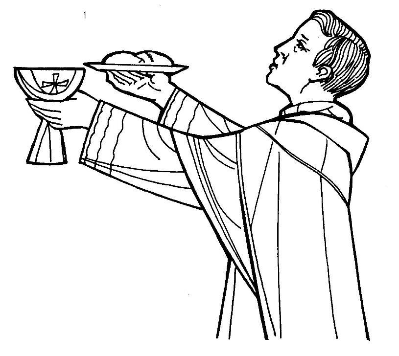 Communion Eucharist Celebration Coloring Page Download Celebration Coloring Pages