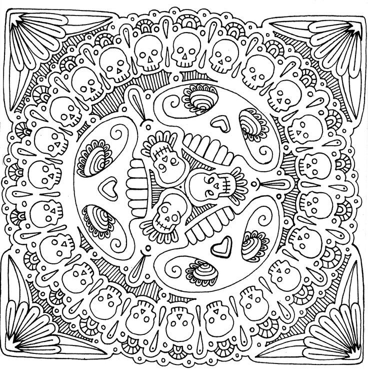 intricate coloring pages pin by gretchen dudley on day of the dead