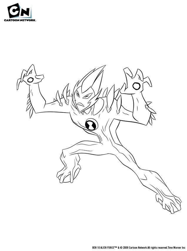 ben 10 swampfire coloring pages az coloring pages Ben 10 Ghostfreak Coloring Pages  Ben 10 Swampfire Coloring Pages