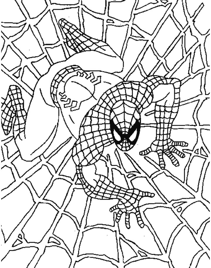 Amazing spider man coloring pages az coloring pages for Amazing spiderman coloring pages