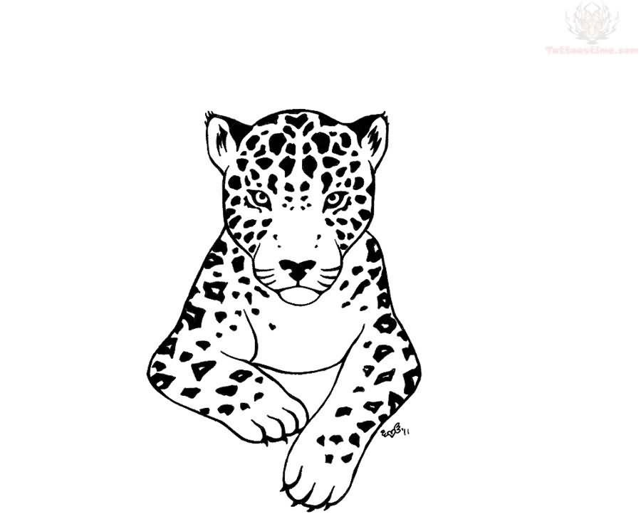 coloring pages baby jaguar - photo#22