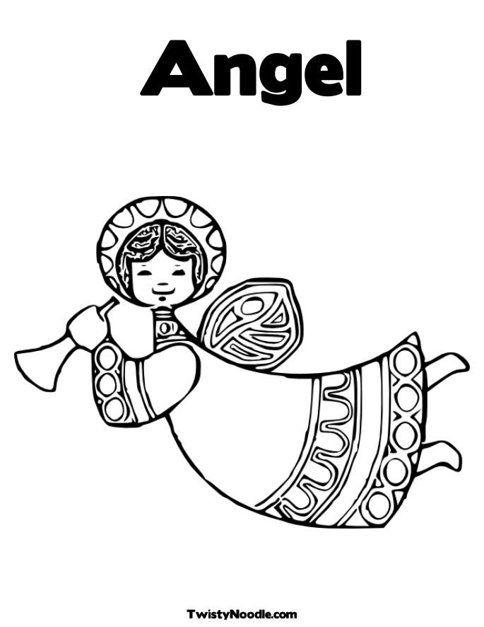 Angel Coloring Pages Pdf : Nativity angels colouring pages page coloring home