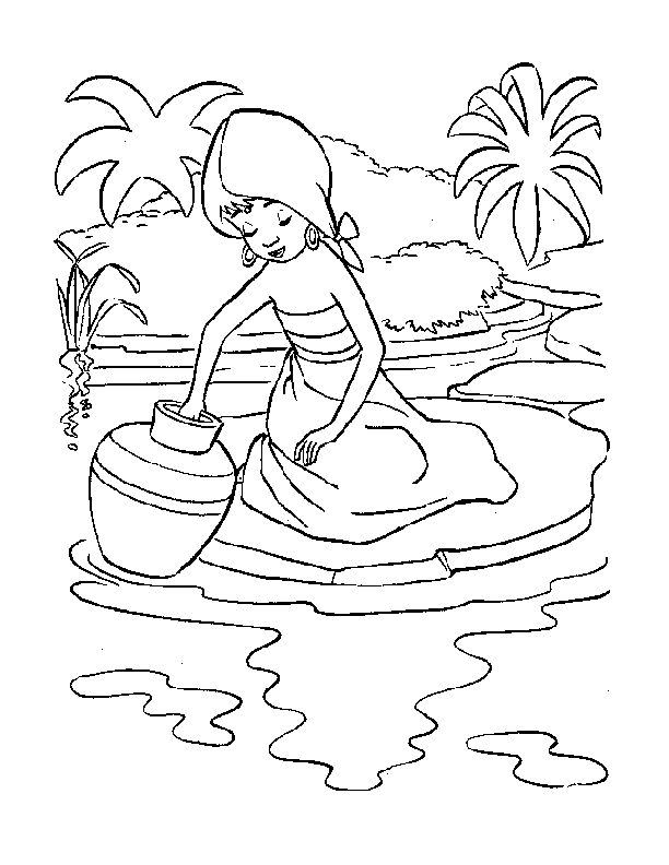 coloring pages - Cartoon » The Jungle Book (319) - Shanti