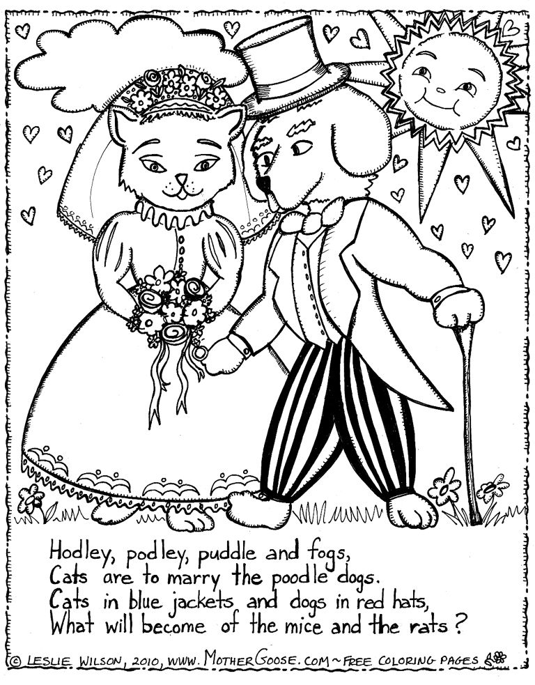 Dogs And Cats Coloring Pages Coloring Home