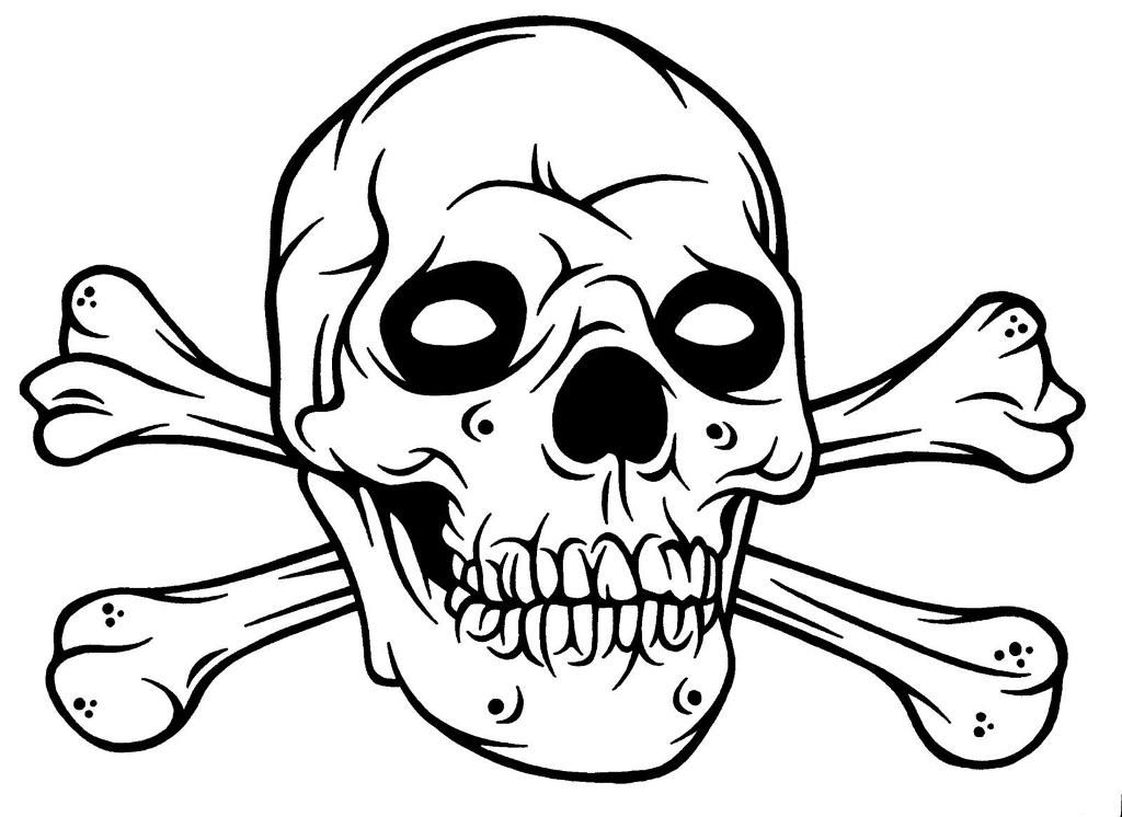- Kids Colouring Skull And Crossbones - Coloring Home