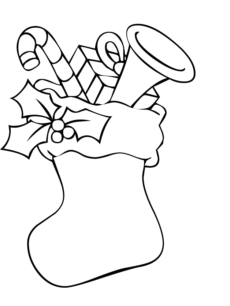 stocking free coloring pages - photo#17