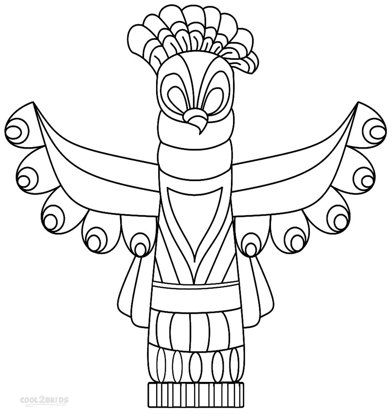 horse totem pole coloring pages - photo#31