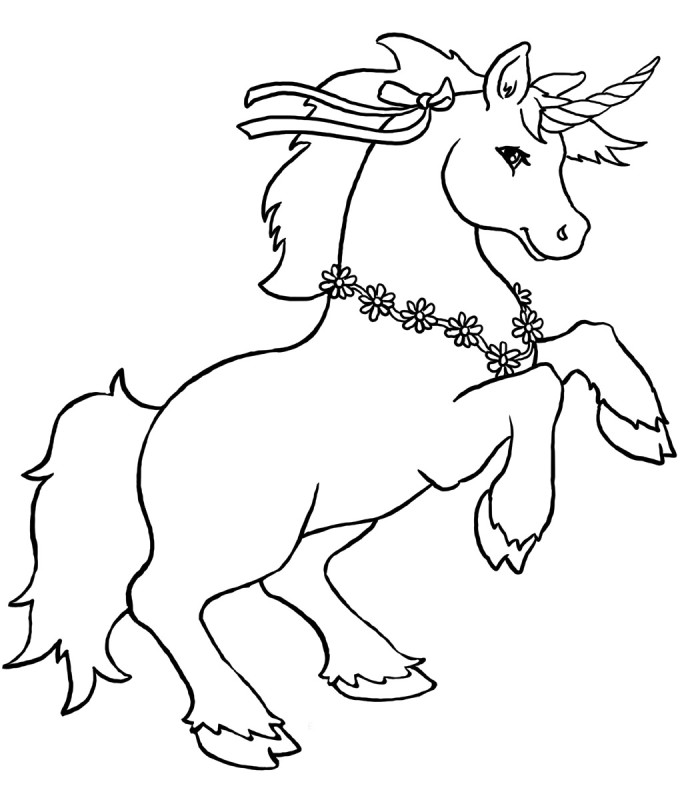 Free Coloring Pages Of Cartoon Unicorn