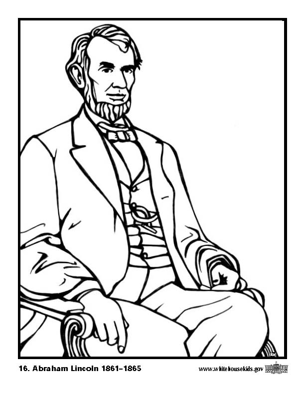abe lincoln coloring pages printable - photo#11