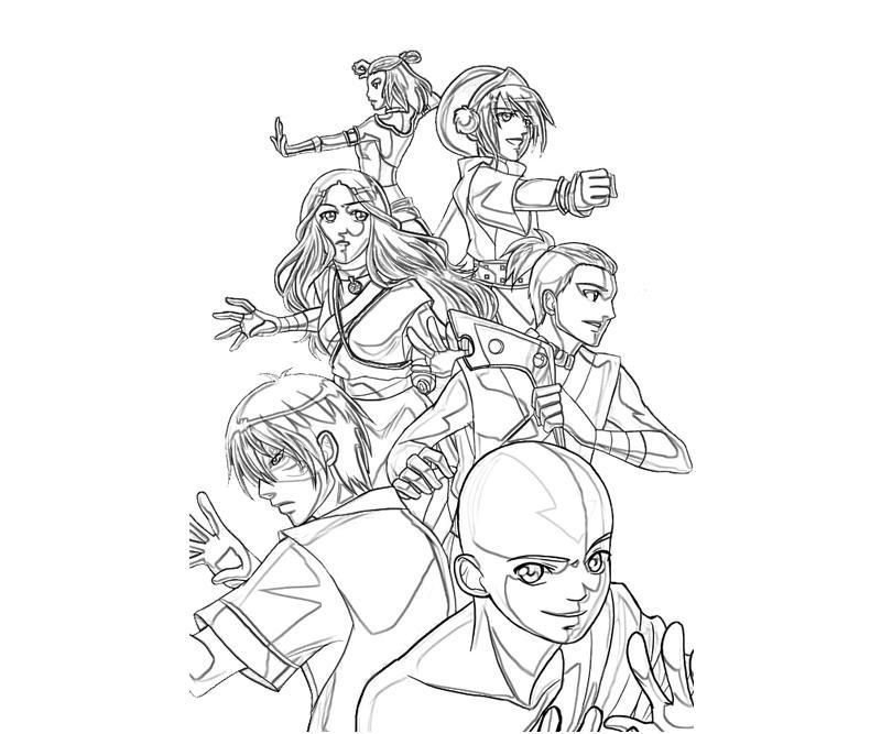 Printable Avatar Coloring Pages Coloring Home