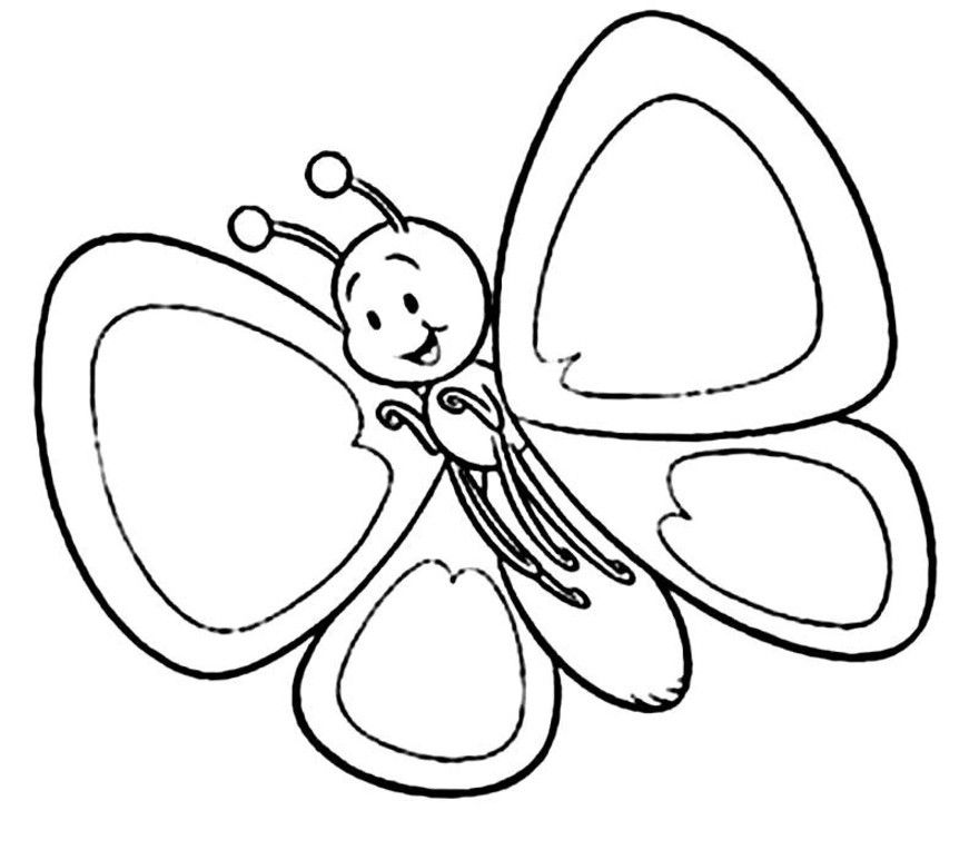 Printable Butterfly Template - Coloring Home - photo#24