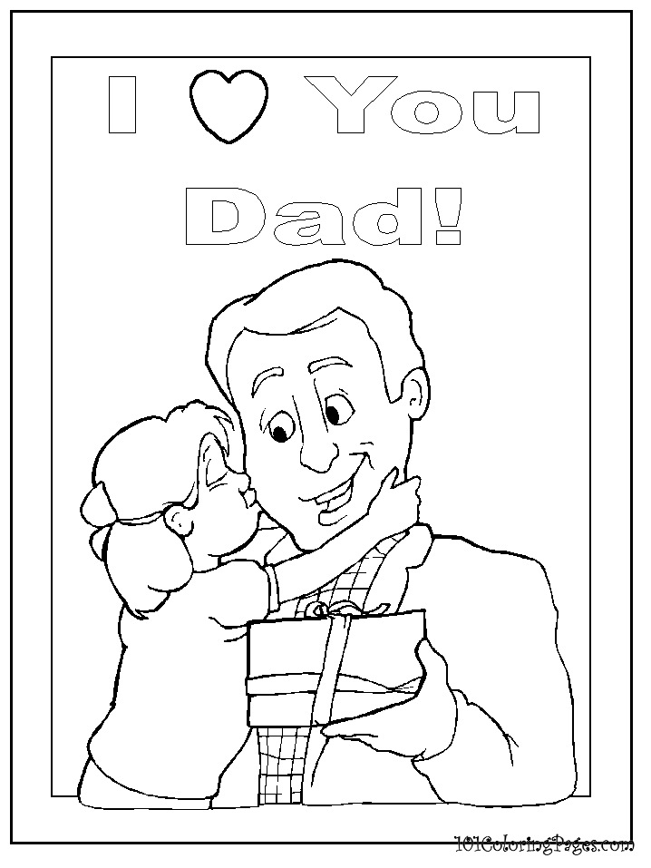I Love You Daddy Coloring Pages - 115.8KB