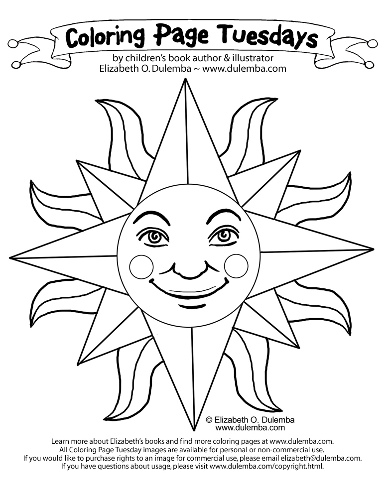 dulemba: Coloring Page Tuesday - Sun