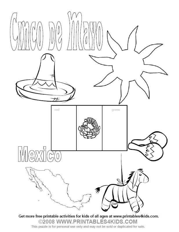 Cinco De Mayo Printable Coloring Pages Az Coloring Pages Free Printable Cinco De Mayo Coloring Pages