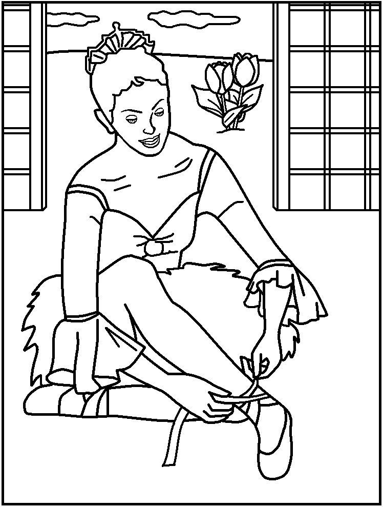 Ballerina coloring page az coloring pages for I love dance coloring pages