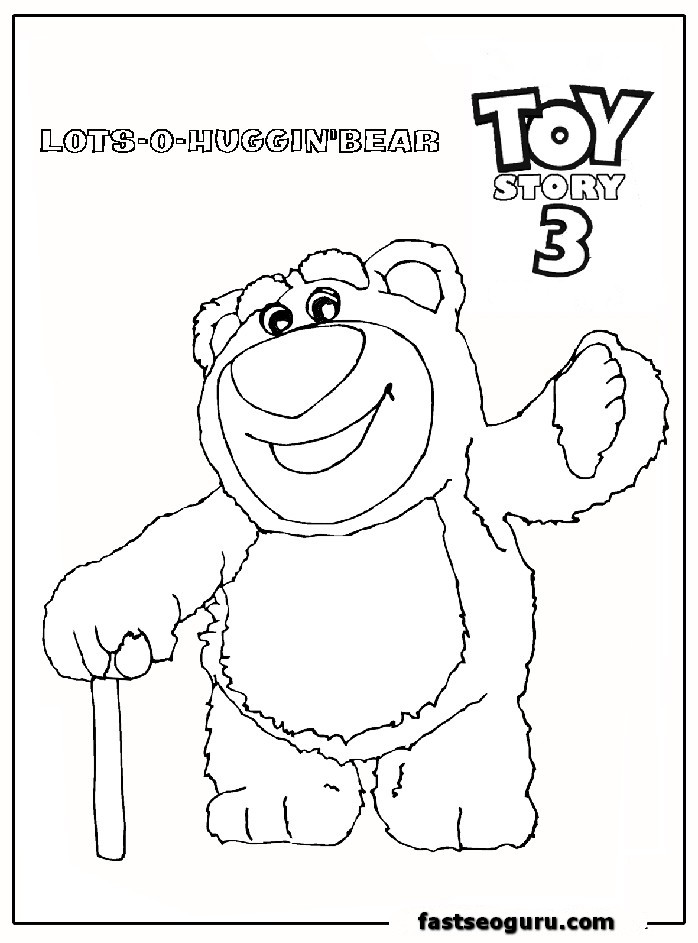 Coloring pages of toy story 3 az coloring pages for Free printable coloring pages toy story 3