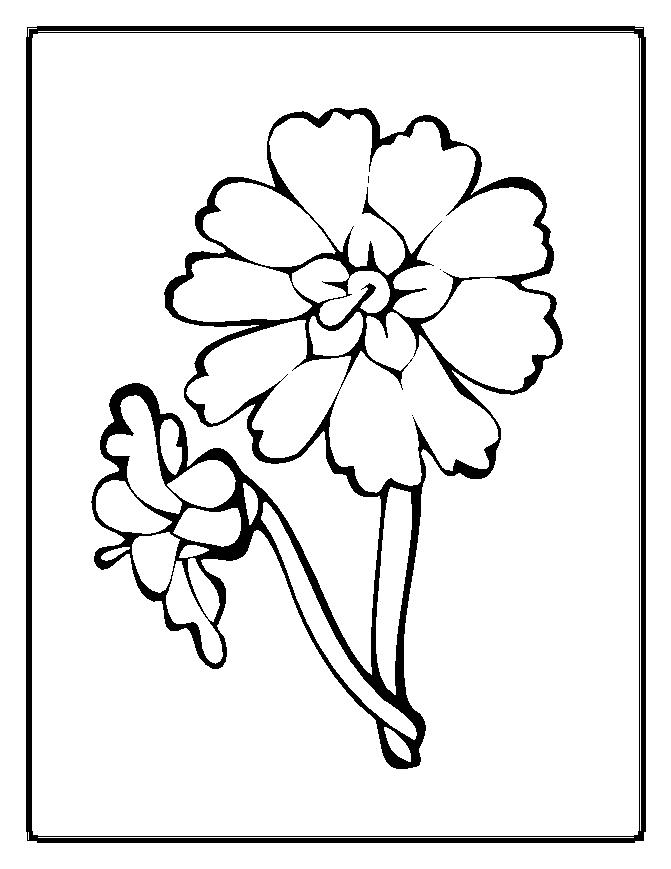 simple coloring pages flowers - photo#47