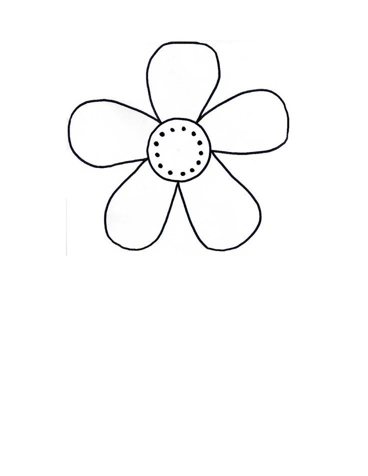 Flower Outline Template Ms G S Clroom