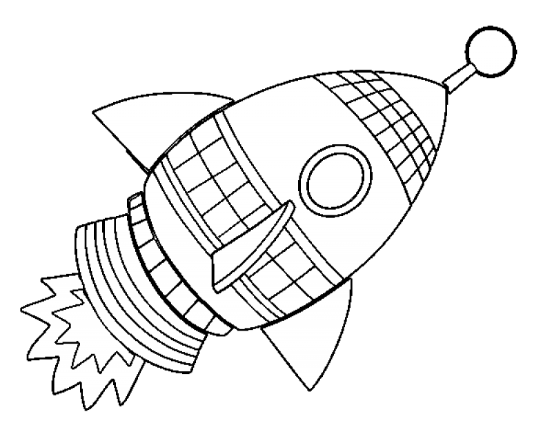 Rocketship Coloring Pages