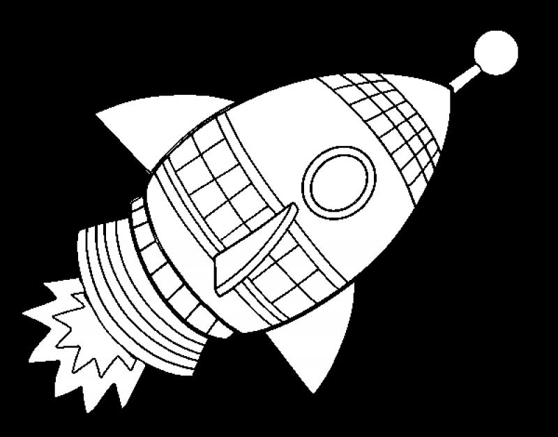 Printable Rocket Ship