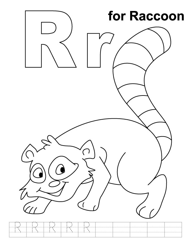 Raccoon coloring pages az coloring pages for Racoon coloring page