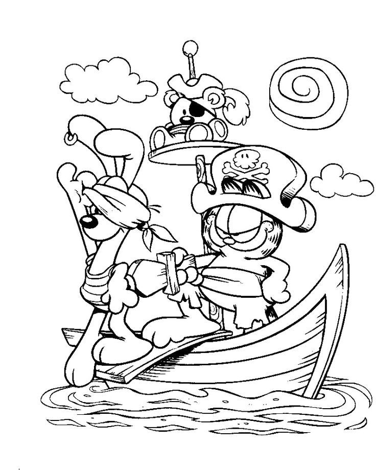 garfield and friends coloring pages - photo#14