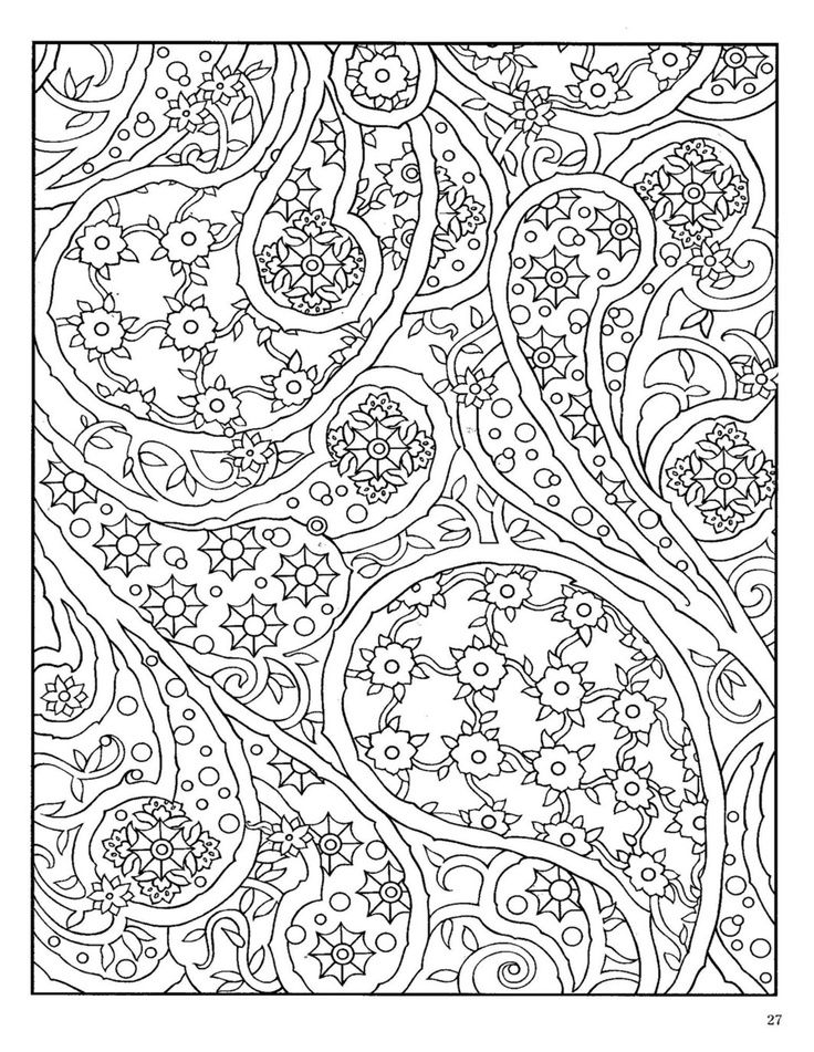 Dover paisley designs coloring book coloring pages for Paisley designs coloring pages