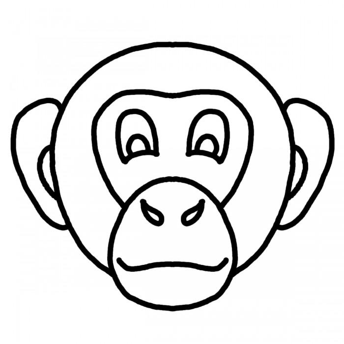 Monkey face coloring pages az coloring pages for Monkey face coloring pages