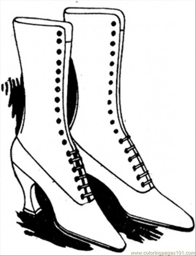 Coloring Pages Lady Shoes (Entertainment > Shoes) - free printable