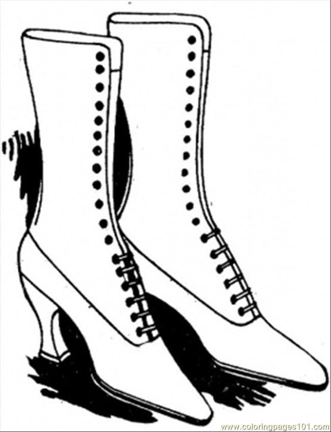 Shoe Coloring Sheet AZ Coloring