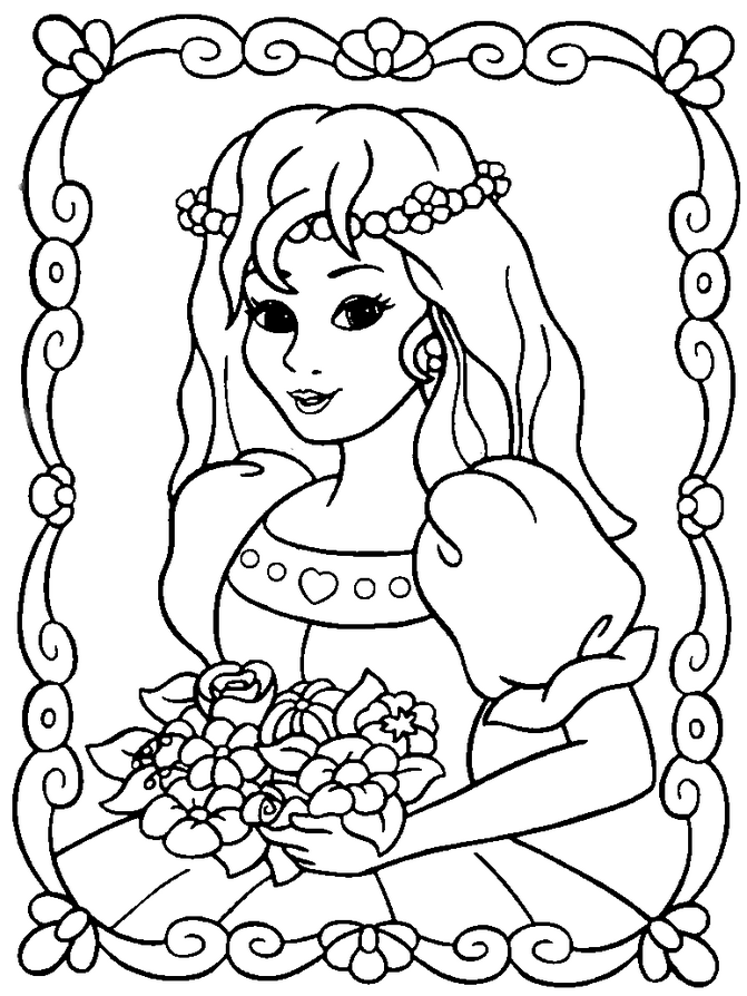 Coloring Book Princess Coloring Home