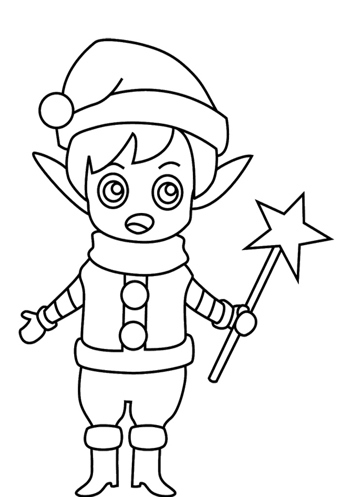 Elf Shoe Coloring Pages