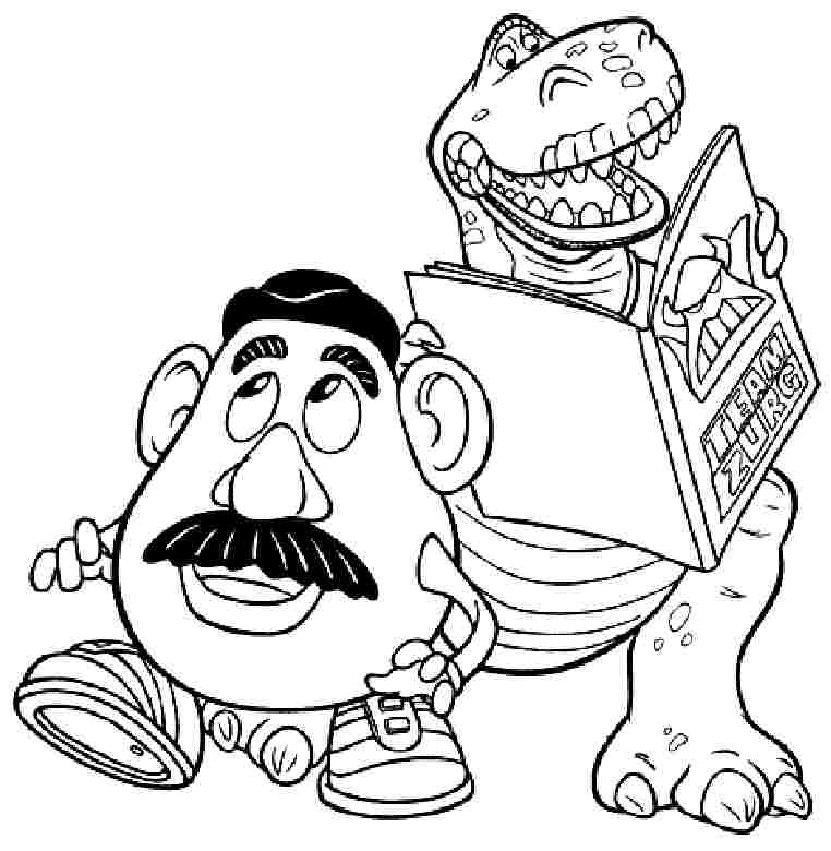 toy story coloring pages rexburg - photo#17