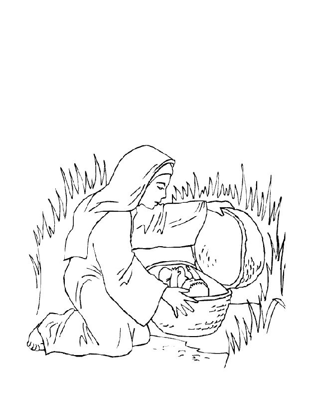 Baby Moses Coloring Pages Coloring