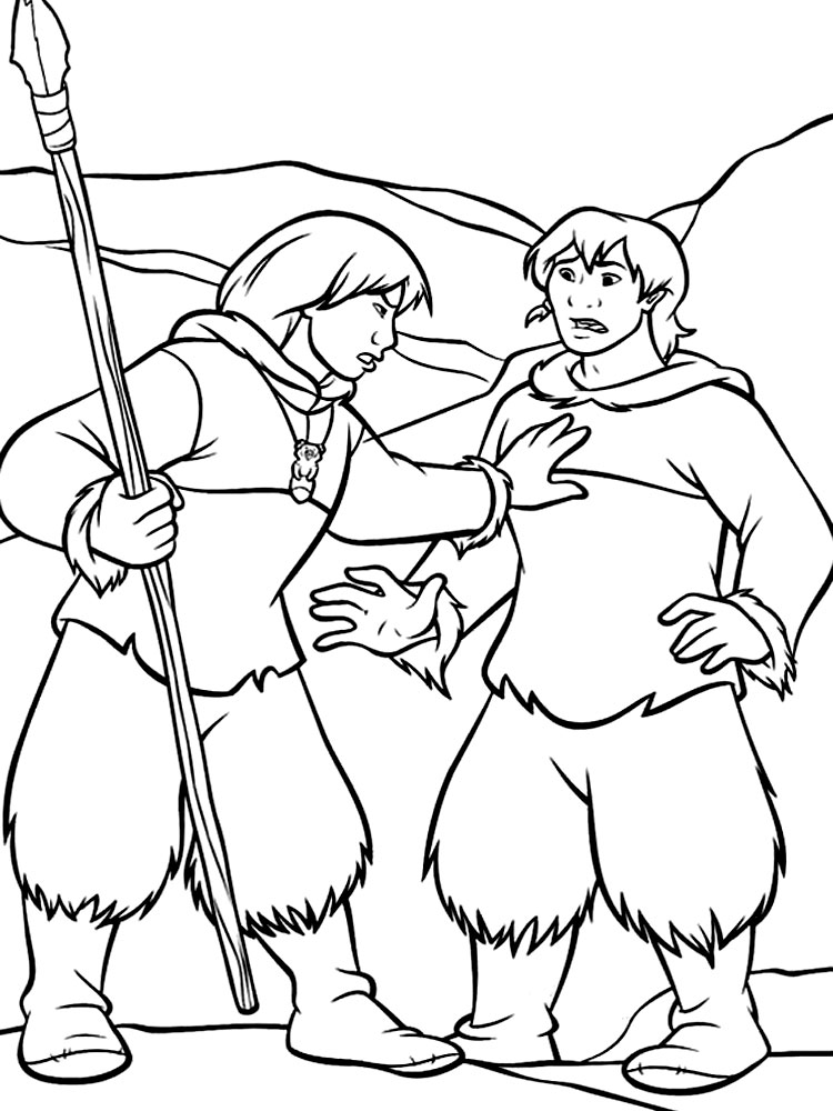 brother bear 2 coloring pages - photo#8