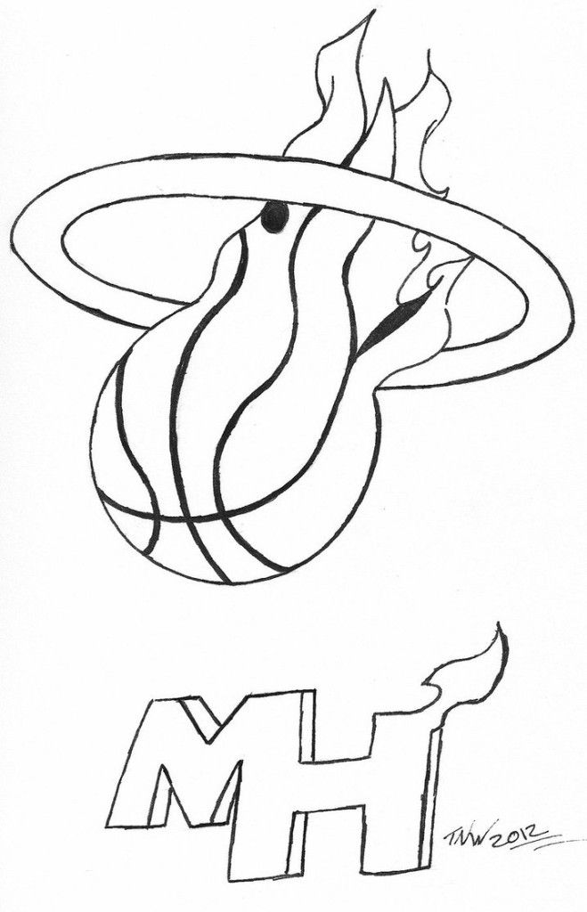 miami heat basketball coloring pages | Coloring Pages For Kids