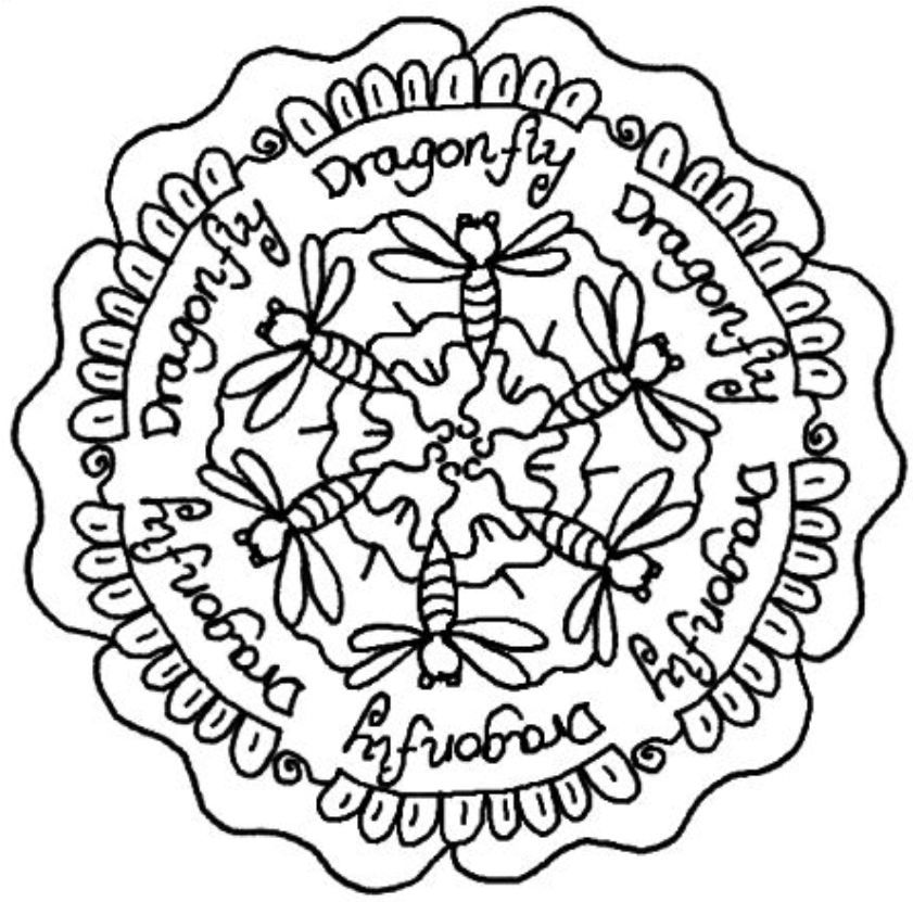 Download Dragonfly Mandala Coloring Pages Or Print Dragonfly