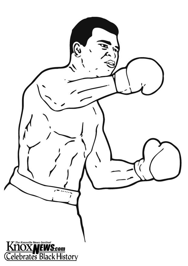 Coloring page Muhammad Ali - img 12871.