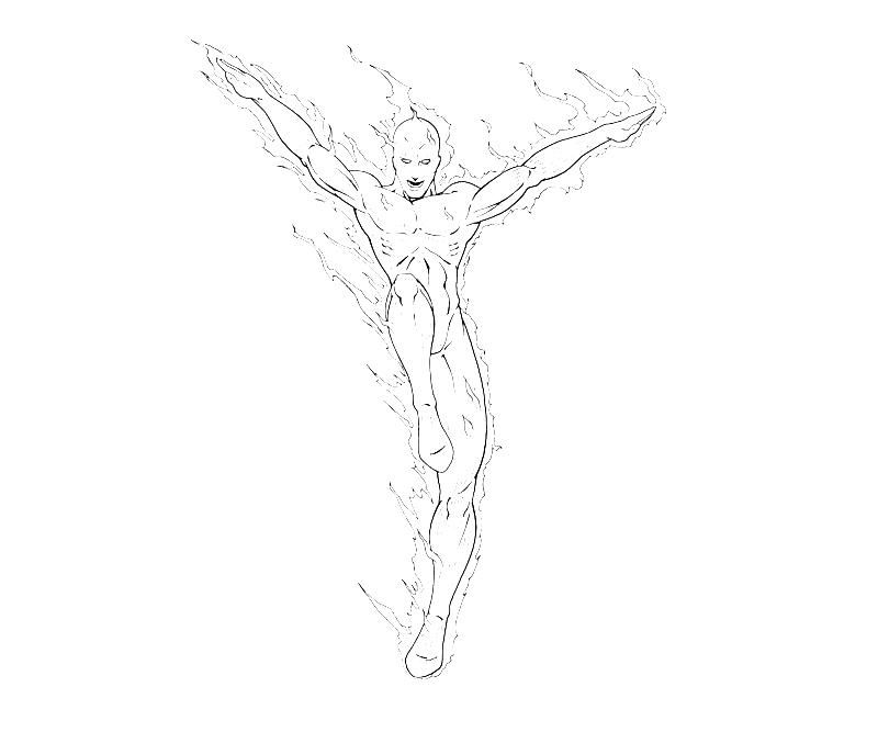 the human torch coloring pages - photo#17