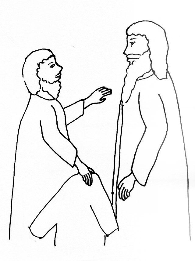 Bible Story Coloring Page for Jesus and Blind Bartimaeus | Free ...
