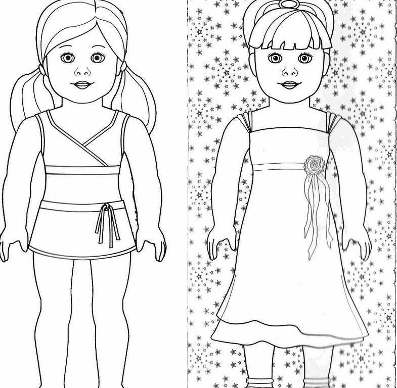 American-girl-doll-coloring-pages  coloring Pages For Adults - Coloring Home