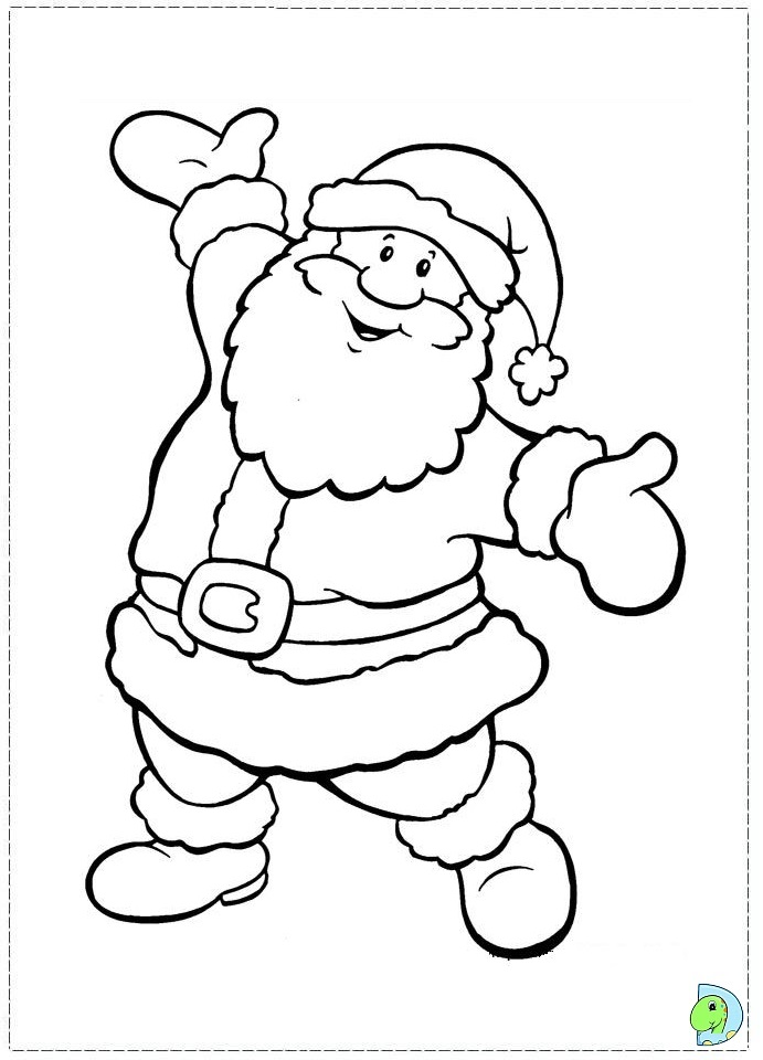 santa claus coloring pages online - photo#7