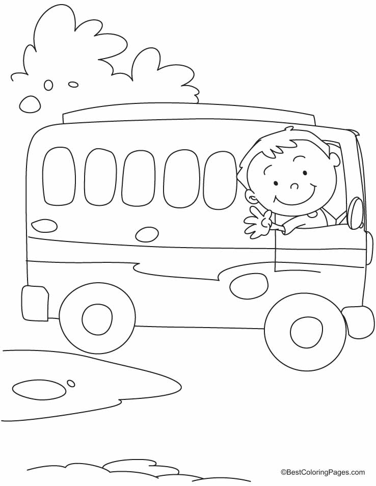 Bus Safety Coloring Pages - Coloring Home