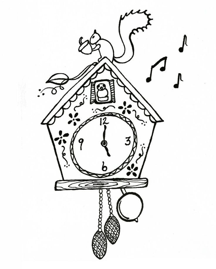 Clock Coloring Page Coloring Home