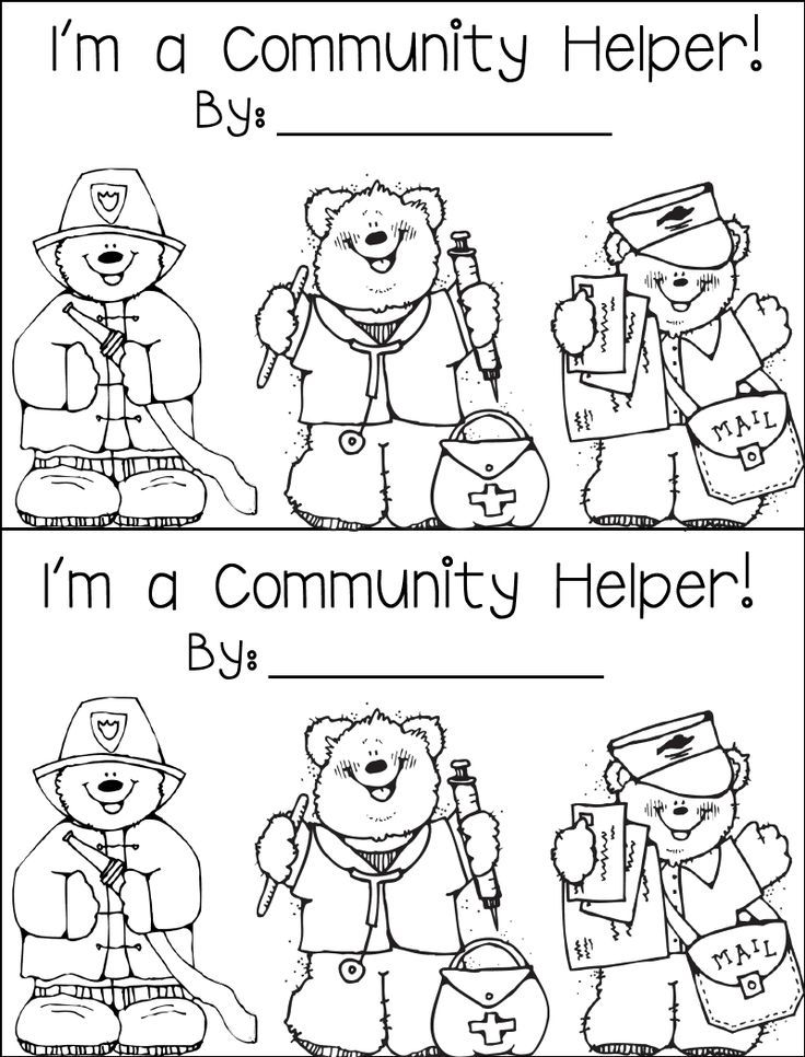 Pictures Of Community Helpers - Coloring Home