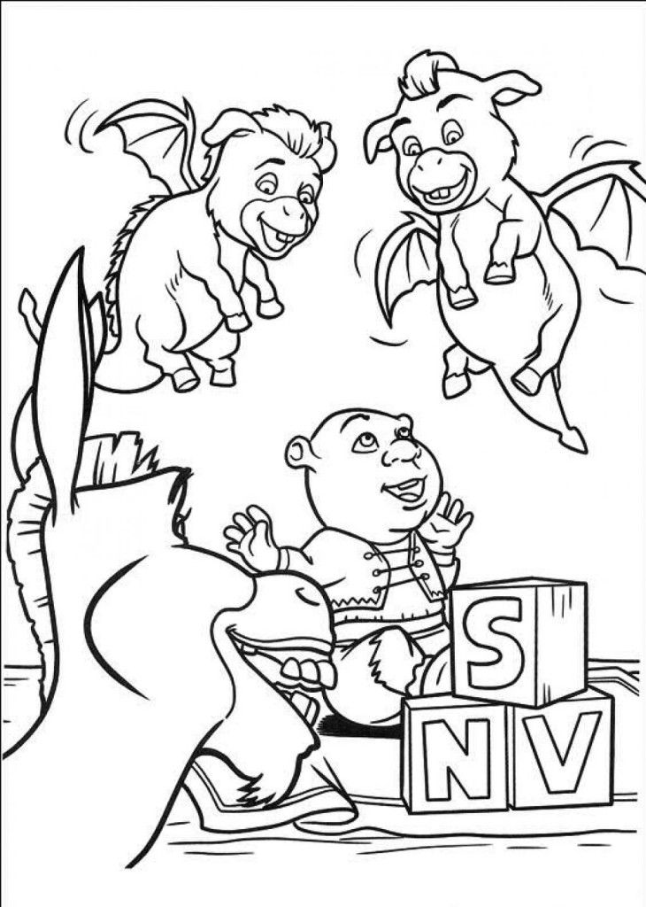 Shrek 4 coloring pages coloring home for Shrek 4 coloring pages