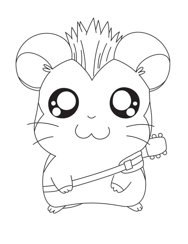 Guitar Coloring Pages Pdf : Hamtaro and guitar coloring pages free